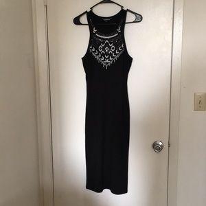 Express partial sequin dress